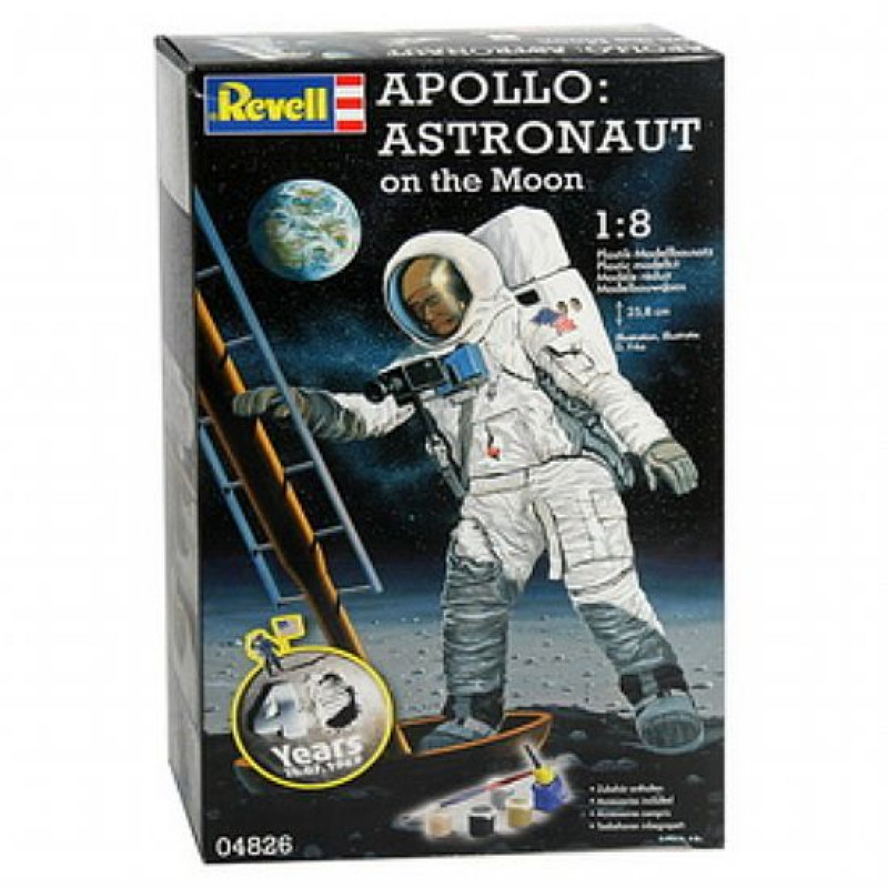 APOLLO Astronaut on the Moon (Com Cola Pincel Tintas)