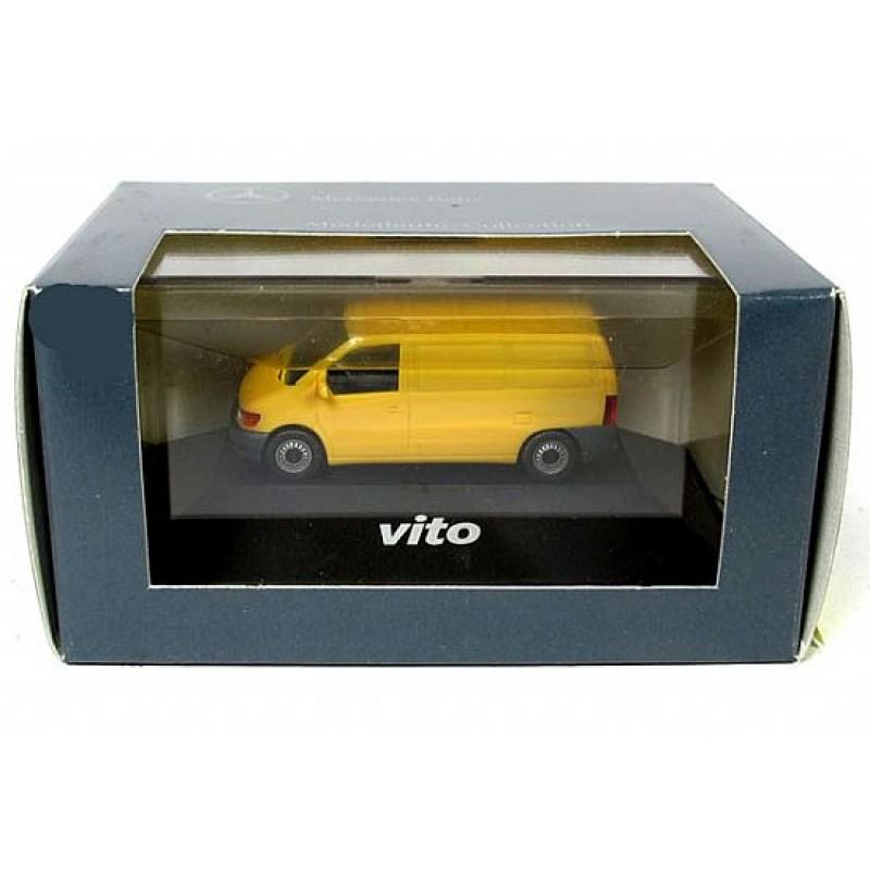 Mercedes-Benz VITO Van / Amarelo (Com Base e Caixa de Acrilico)