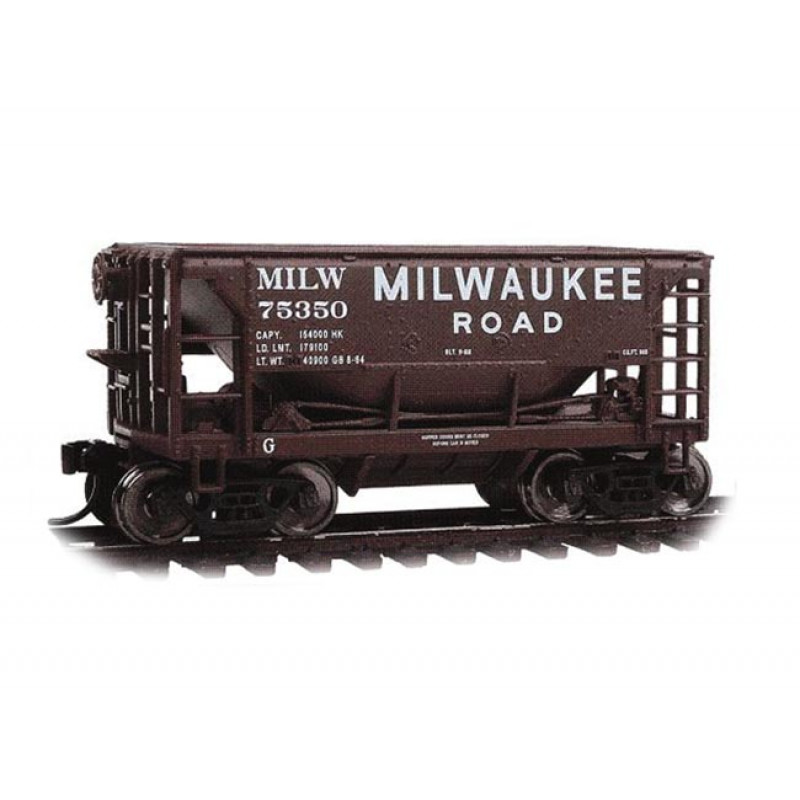 Ore Car 24pés / Milwaukee Railroad (MILW76492)  Com Carga