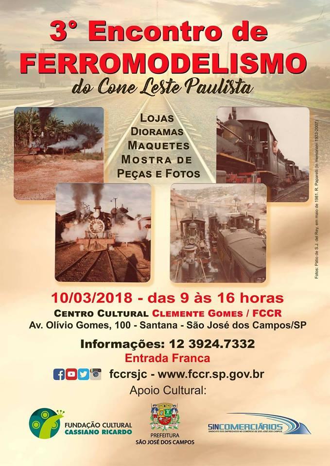 3º Encontro de Ferromodelismo  do Cone Leste Paulista